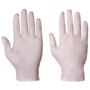 Latex surgical gloves